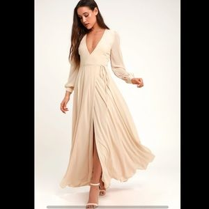 "Lulus ""My Whole Heart"" long sleeve maxi dress"